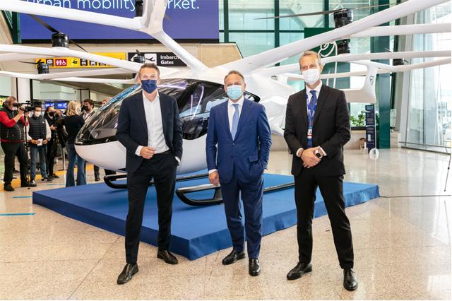 Mobilità Aerea Urbana: Atlantia, Aeroporti di Roma e Volocopter portano in Italia i taxi aerei elettrici
